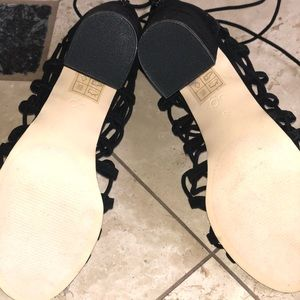 Urban Outfitters Shoes - New!! Urban Outfitters Lace-Up Black Heels